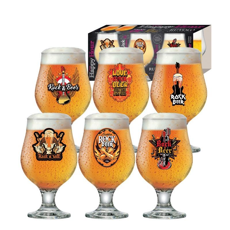 Taça de cerveja Beer Rock Collection Master - 06 peças