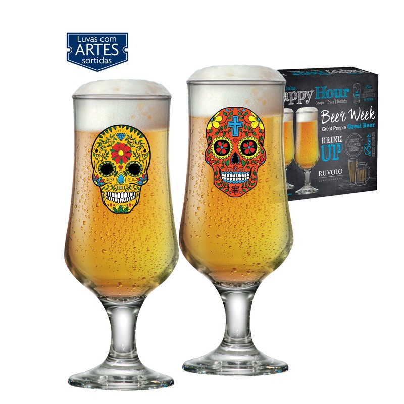Taça de cerveja Barcelona Mexican Style  - 02 peças