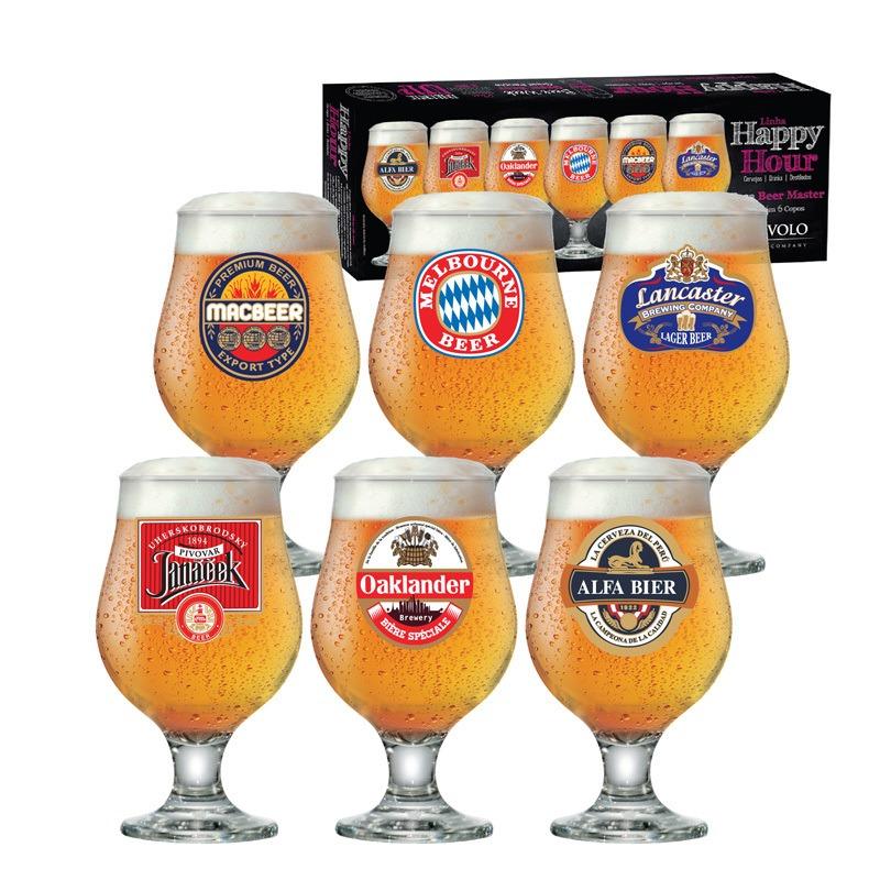 Taça de cerveja Beer Happy Hour Master - 06 peças