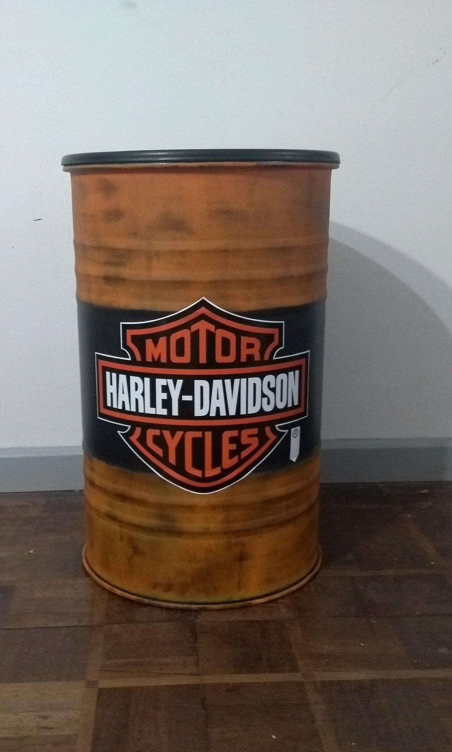 Tambor Decorativo Tamanho M Frisado Harley-Davidson