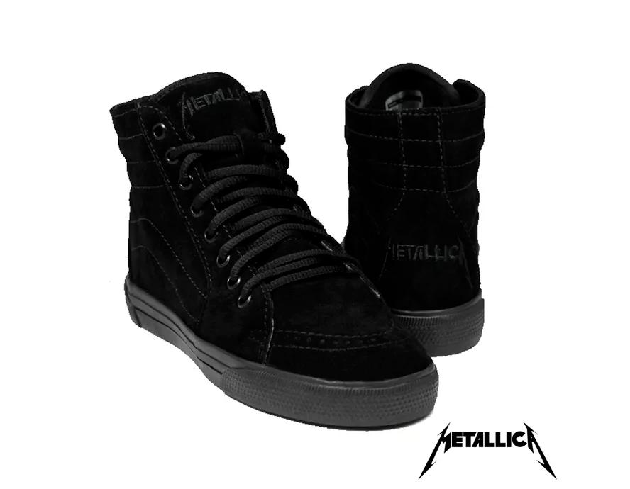 Tênis BandShoes Feminino Metallica Black
