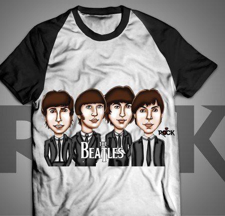 Camiseta Exclusiva Mitos do Rock The Beatles