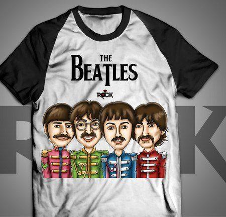Camiseta Exclusiva Mitos do Rock The Beatles II