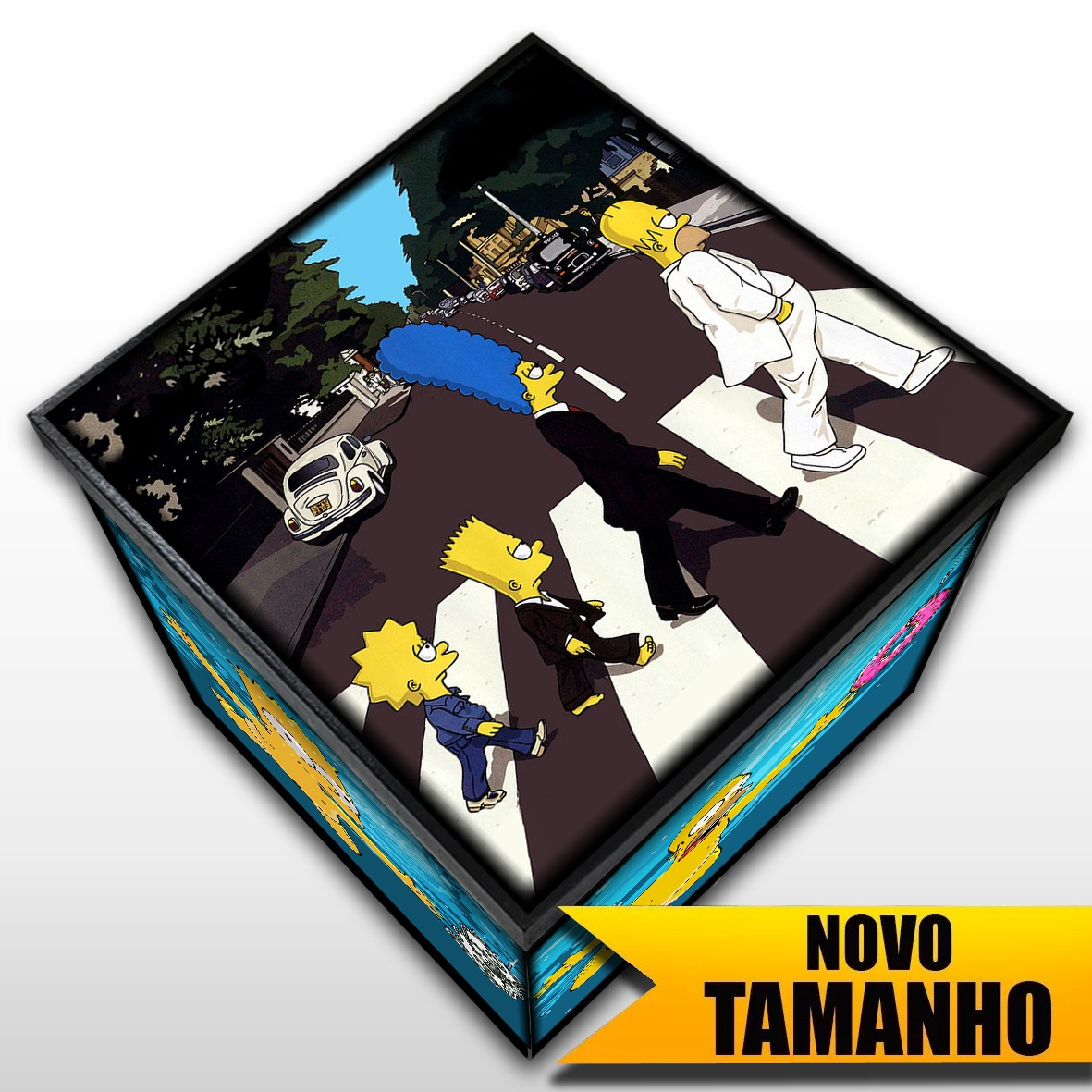 The Simpsons Abbey Road + Nevermind - Caixa Em MDF - Grande - Mr. Rock