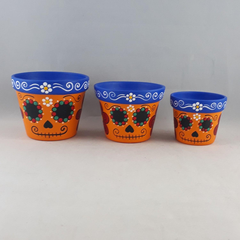 Trio de vasos  Caveira Mexicana