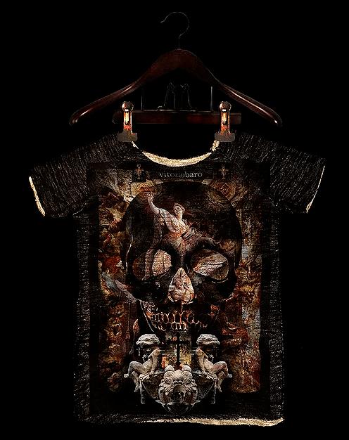 Tshirt Masculina Rústica Caveira Anjo – Vitorio Baro