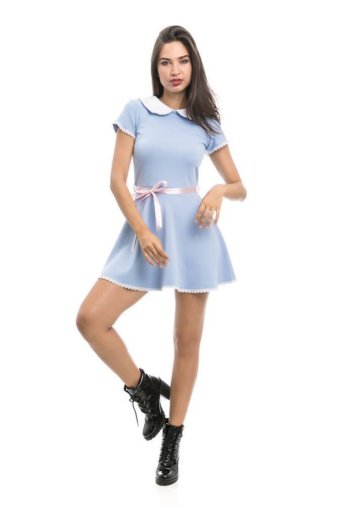Vestido Doll Azul Claro Redrum