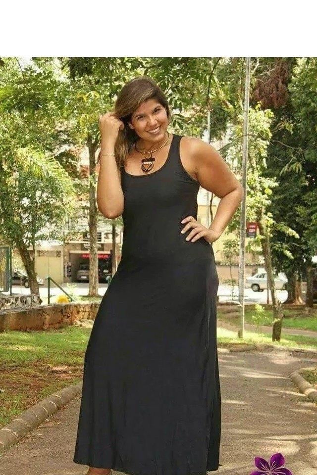 Vestido Plus Size Longo Regata