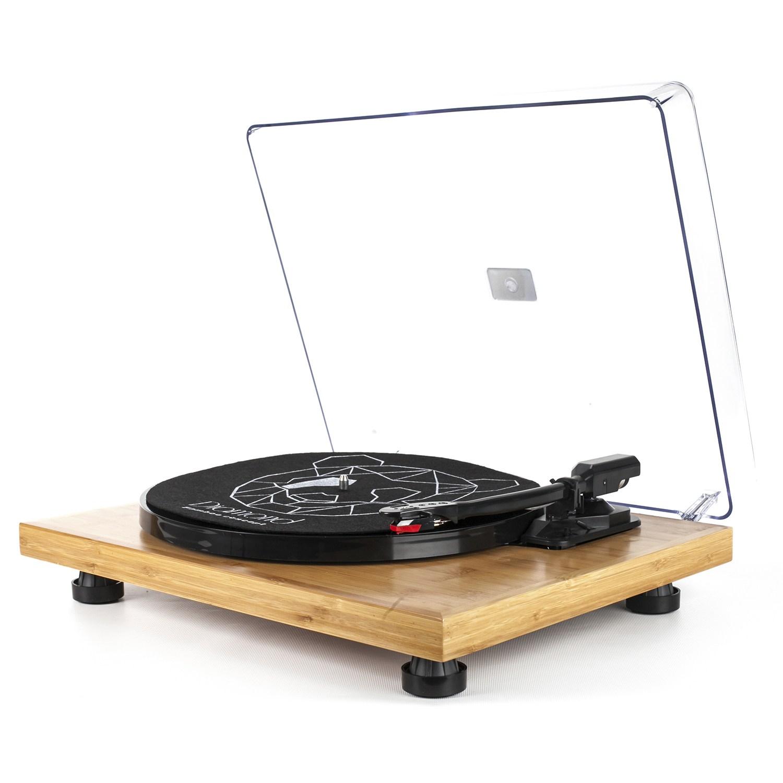 Vitrola Toca Discos Diamond Bamboo Collection - Agulha Japonesa com software de gravação para MP3 - Echo Vintage