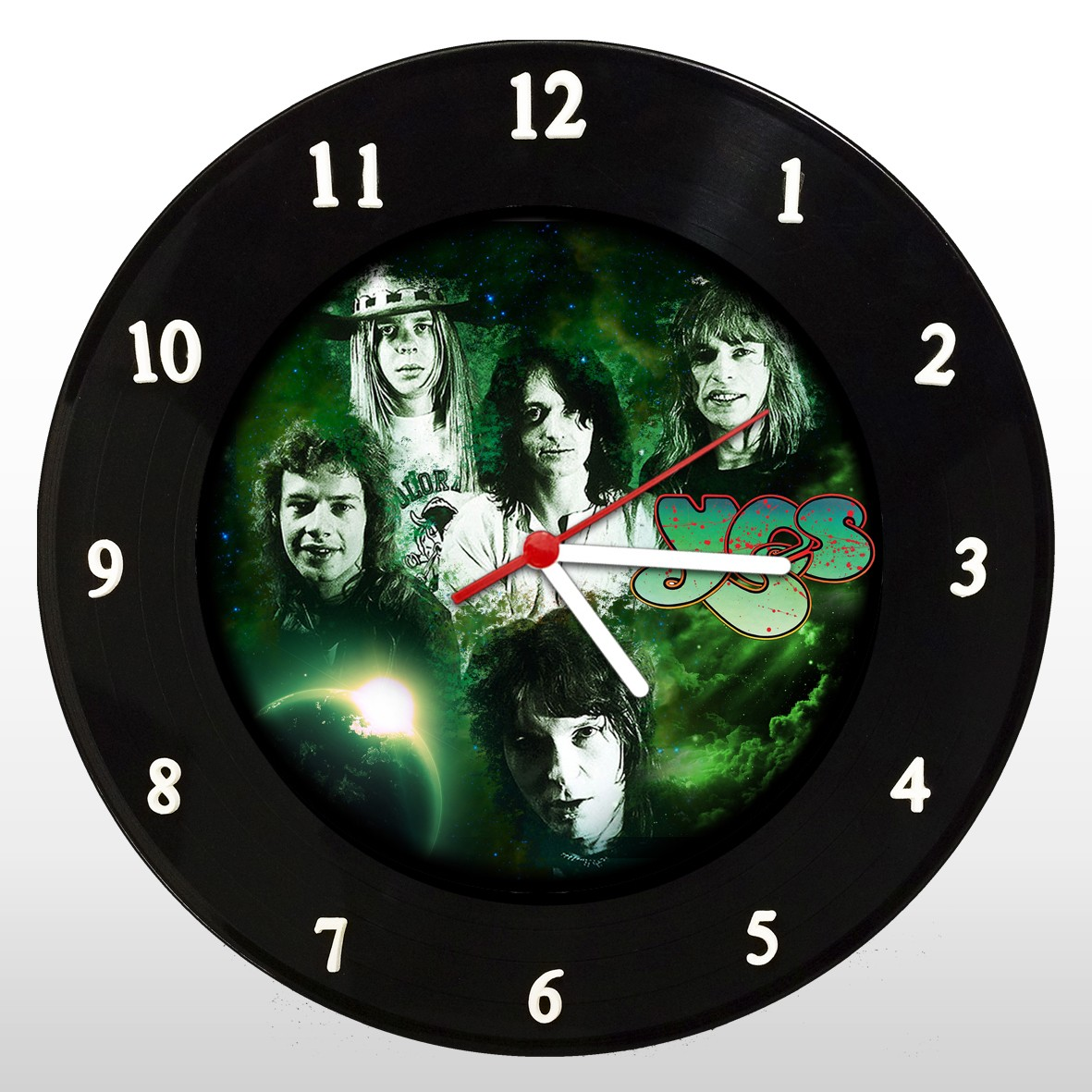 Yes  - Relógio de Parede em Disco de Vinil - Mr. Rock