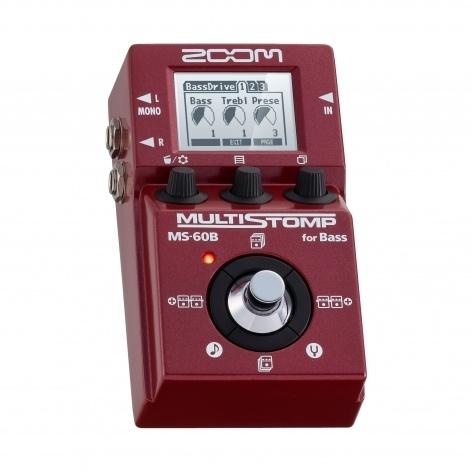 ZOOM MS-60B Red - Pedal de Efeitos para Baixo