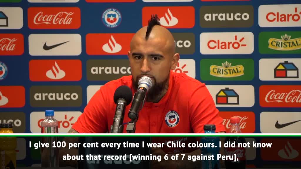 Vidal aiming to extend winning run against Peru