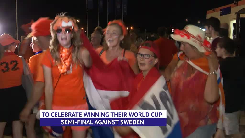 Dutch fans delight over semi-final victory