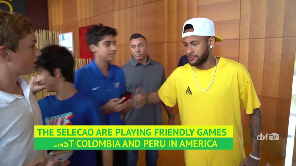 Neymar joins Brazil teammates as a PSG player