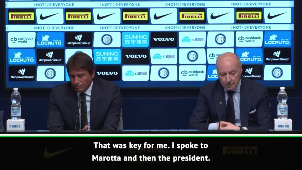 Easy decision to manage Inter - Conte