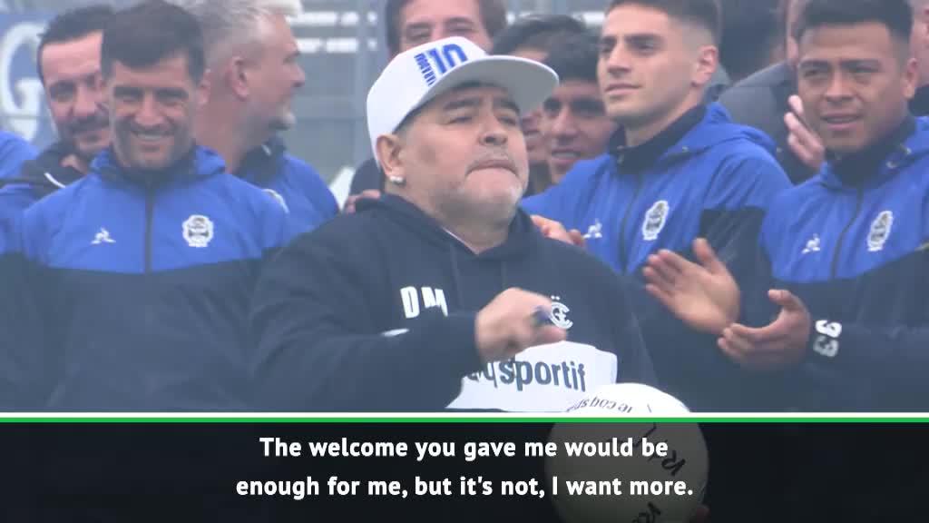'I'm not a magician' - Emotional Maradona on Gimnasia appointment