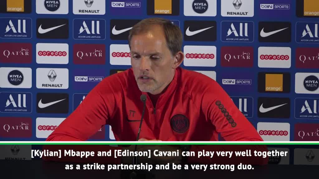 Mbappe and Cavani can play together successfully - Tuchel
