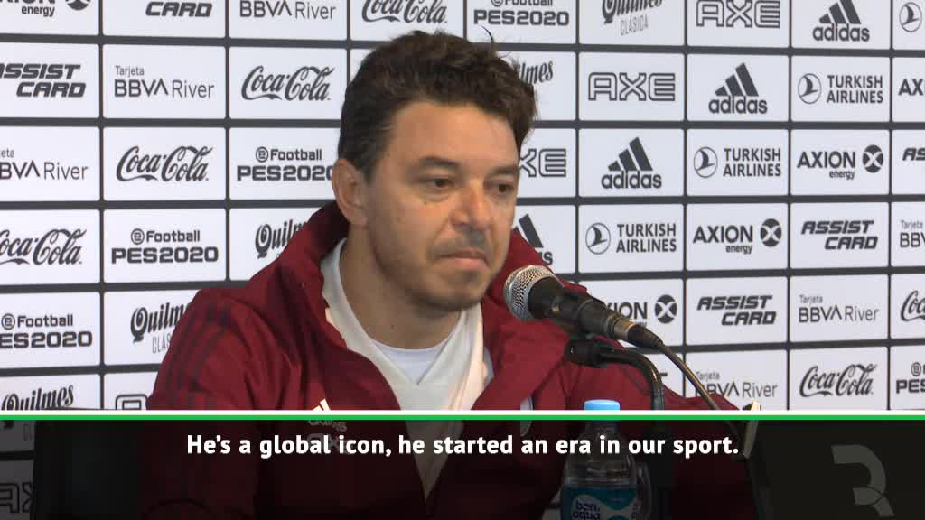 Gallardo wishes the best for 'global icon' Maradona at Gimnasia
