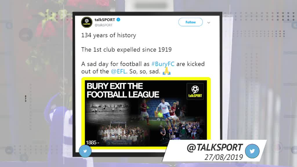 Socialeyesed - Bury expelled from the football league