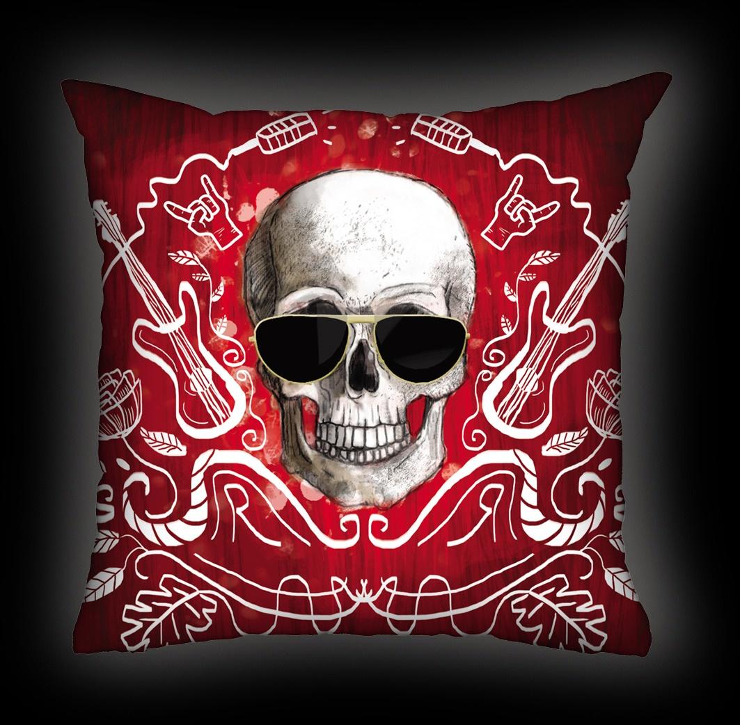 Almofada Ale Graziani - I Love Rock N'Roll - Vermelha