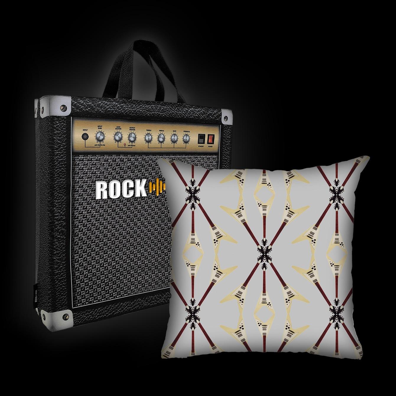 Almofada Rock Use - Flying V (Cinza)