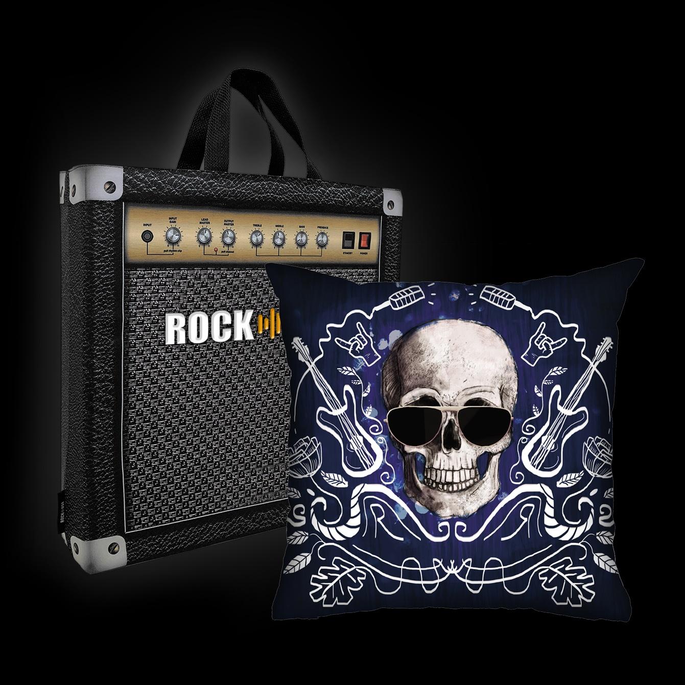 Almofada Ale Graziani - I love rock n'roll (azul)