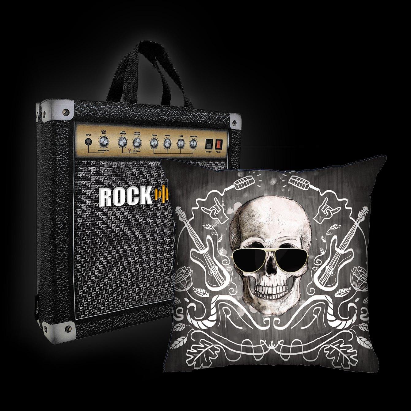 Almofada Ale Graziani - I love rock n'roll (preta)