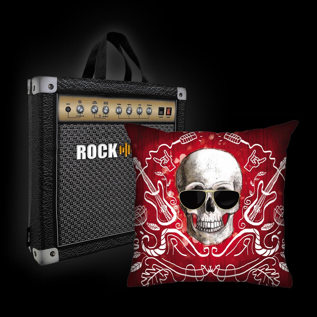 Almofada Ale Graziani - I love rock n'roll (vermelha)