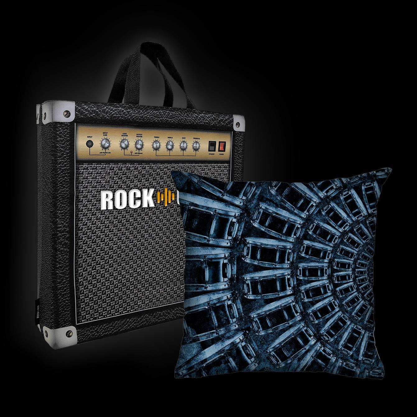Almofada Luiz Conti - Rock Drums (Azul)