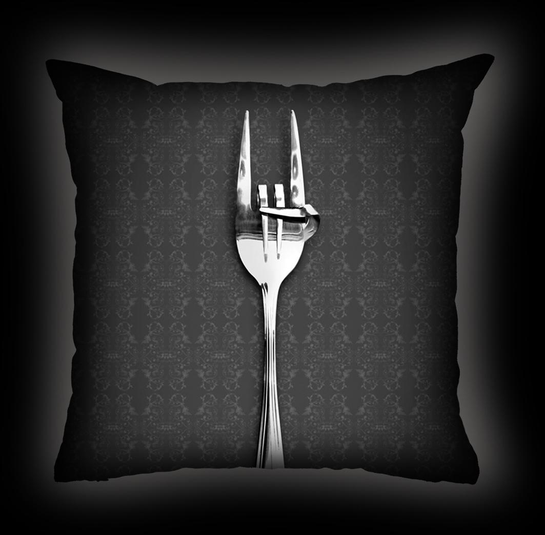 Almofada Rock Use - Fome de Rock - Cinza