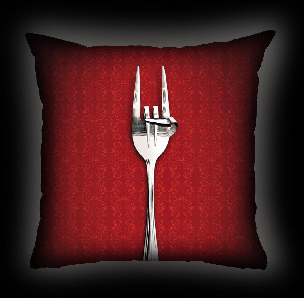 Almofada Rock Use - Fome de Rock - Vermelha
