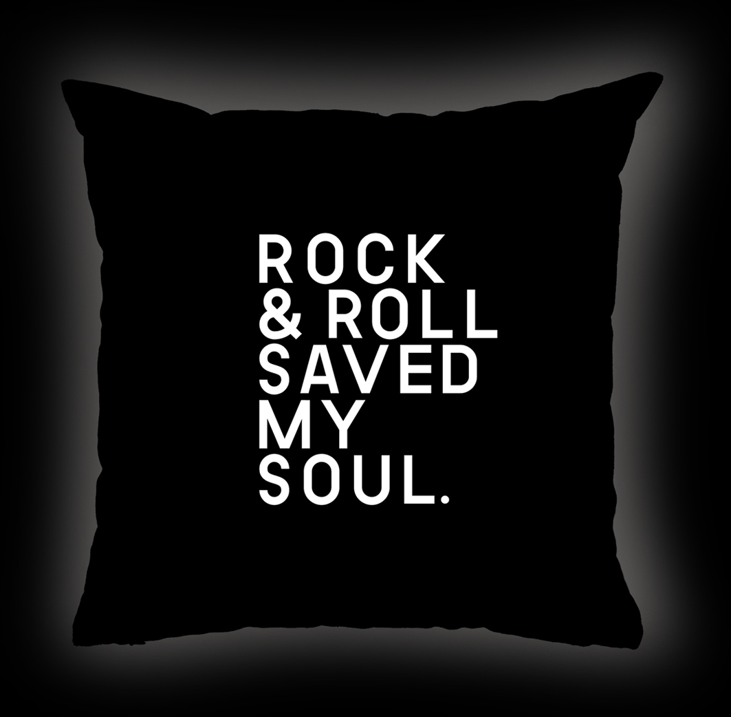 Almofada Rock Use - Rock & Roll Saved My Soul - Preta