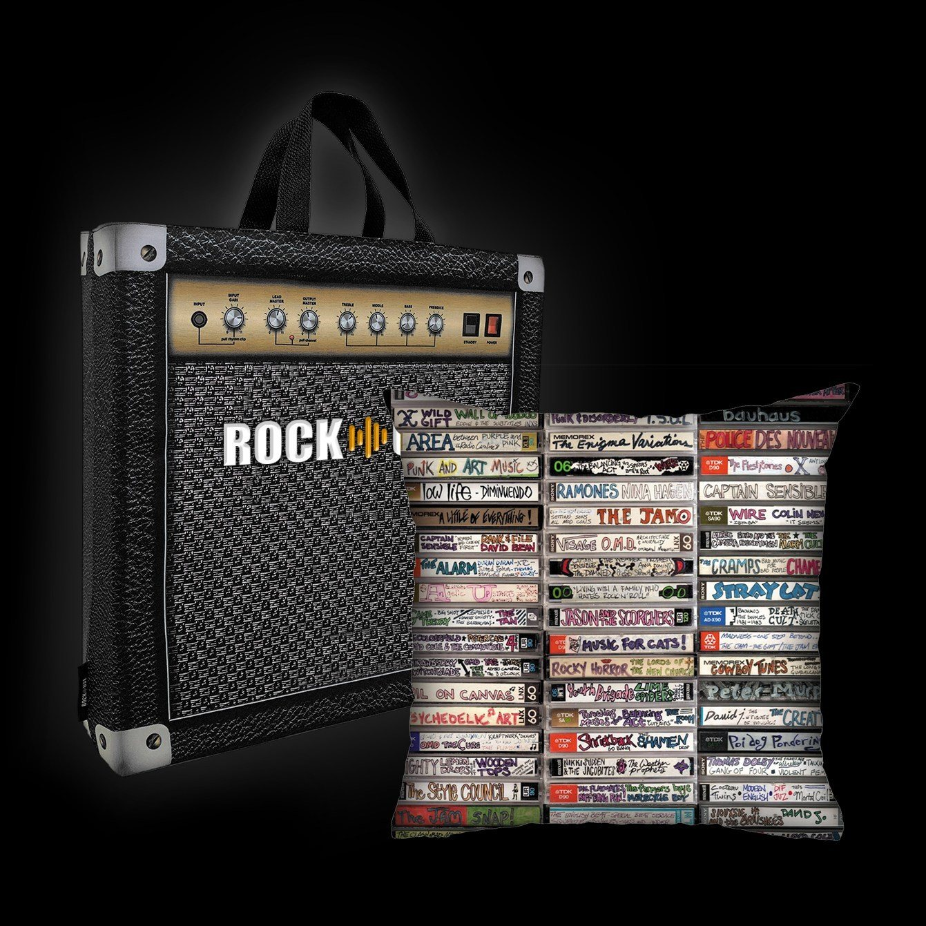 Kit Almofada & Sacola Rock Use - Fitas-Cassete