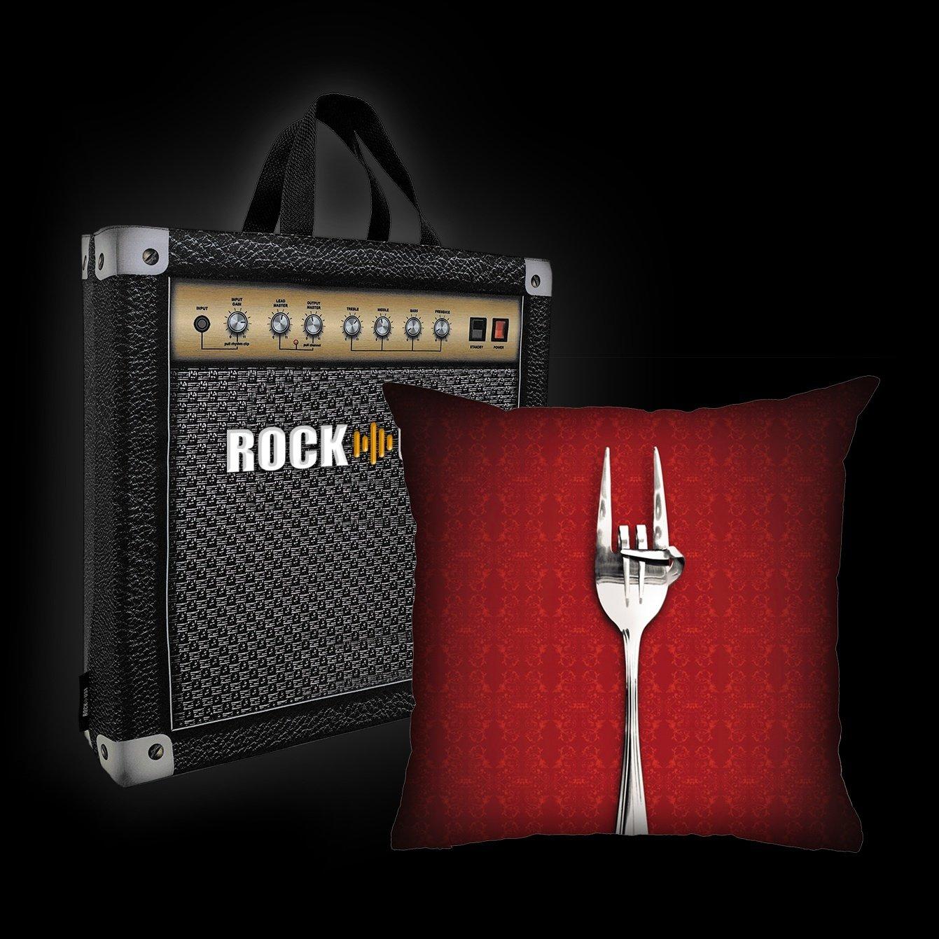 Kit Almofada & Sacola Rock Use - Fome de Rock - Vermelha