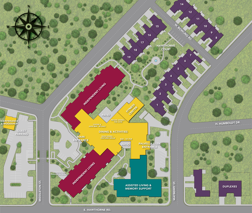 Rockwood at Whitworth Campus Map