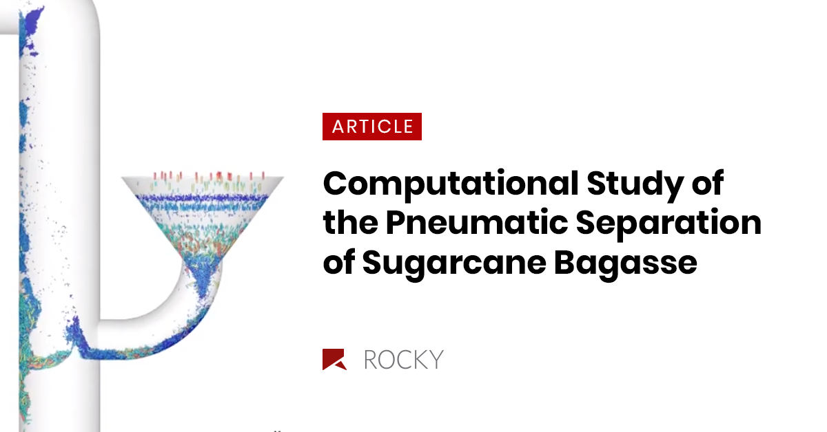 Computational Study of the Pneumatic Separation of Sugarcane