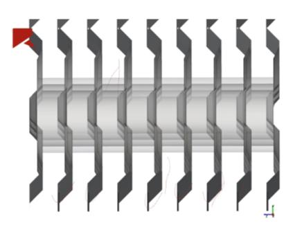 Understanding fouling on heat exchangers using flexible fibers to model cotton linter fibers
