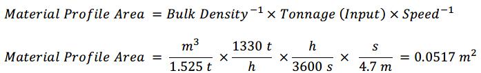 Material profile area formula