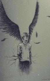 Fallen angel from the underworld  by Rose