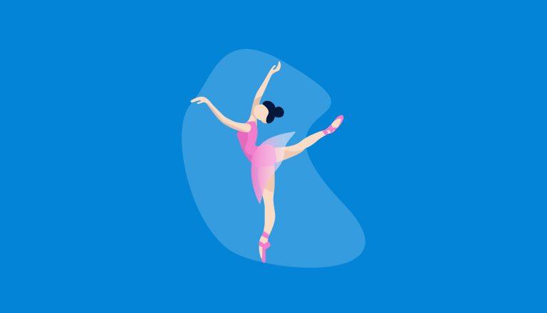 Imagem de uma bailarina