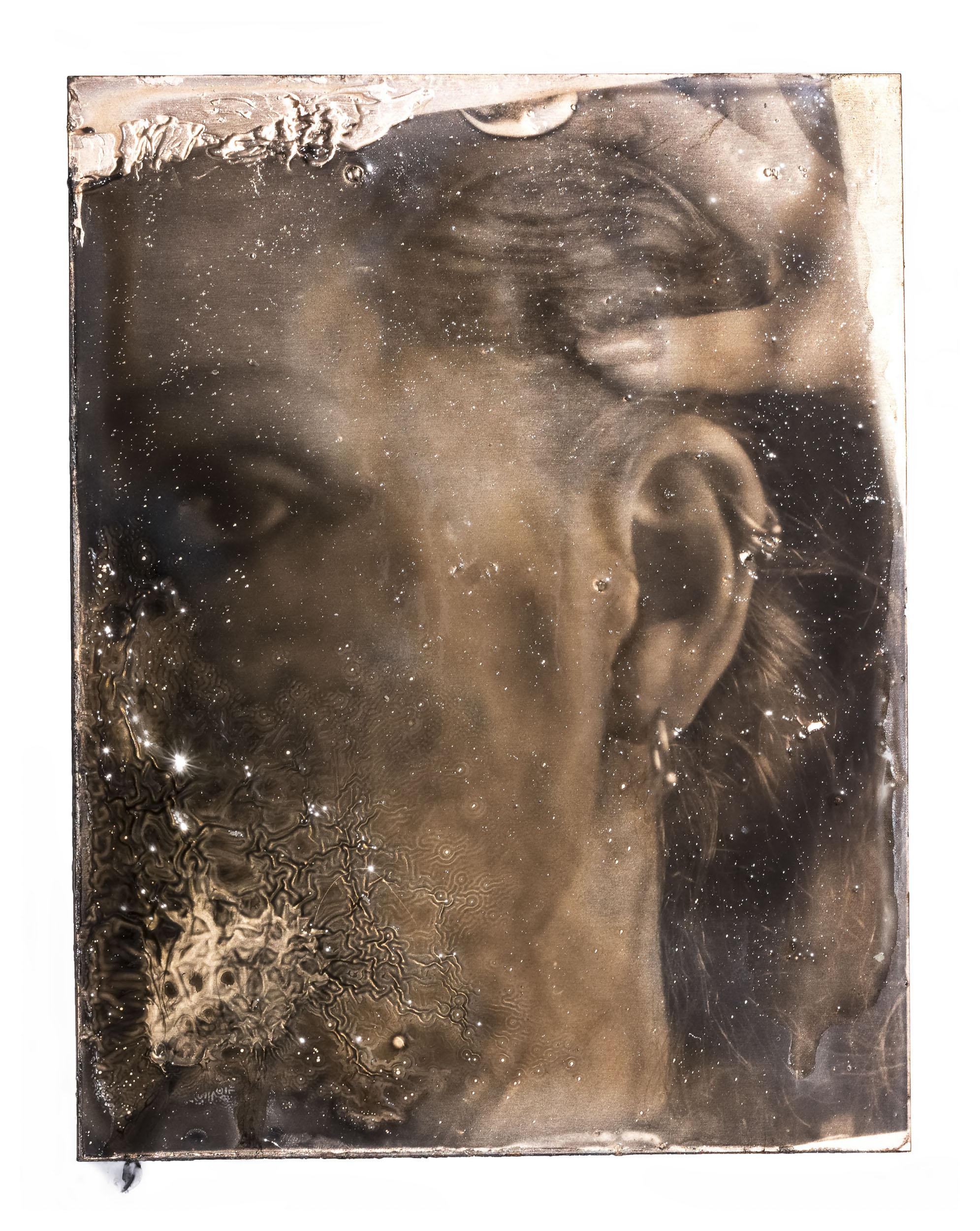 Self in Exploding Copper Print, 18.1*14.5 inch, Archival Inkjet Print