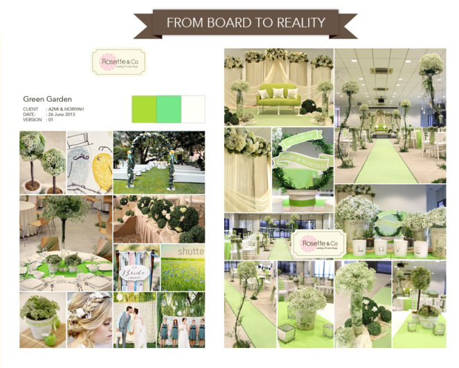 Wedding Decor : From Board to Reality