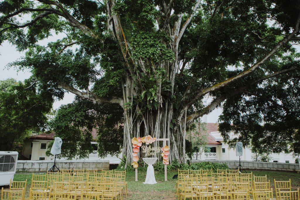 fort canning wedding