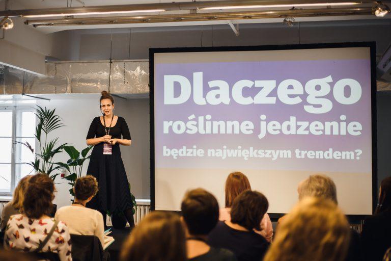 Marta Dymek na konferencji Plant-Powered Perspectives