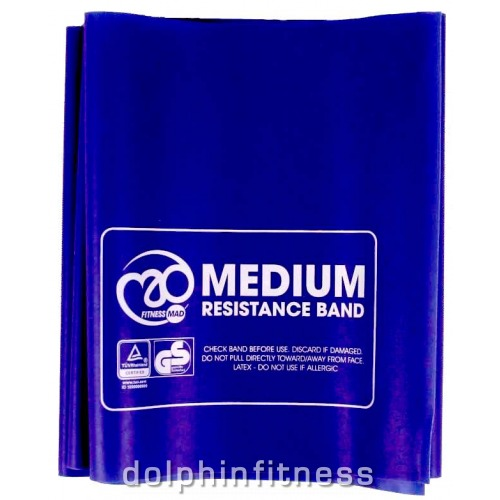 Fitness Mad Resistance Band 1.5m x 15cm /& Guide