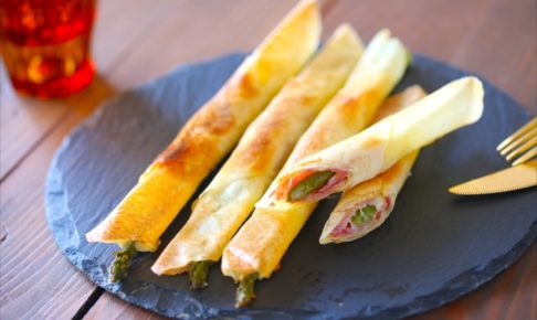 今が旬のアスパラで作る「アスパラ生ハムチーズ春巻き」が簡単なのに病みつきになる!