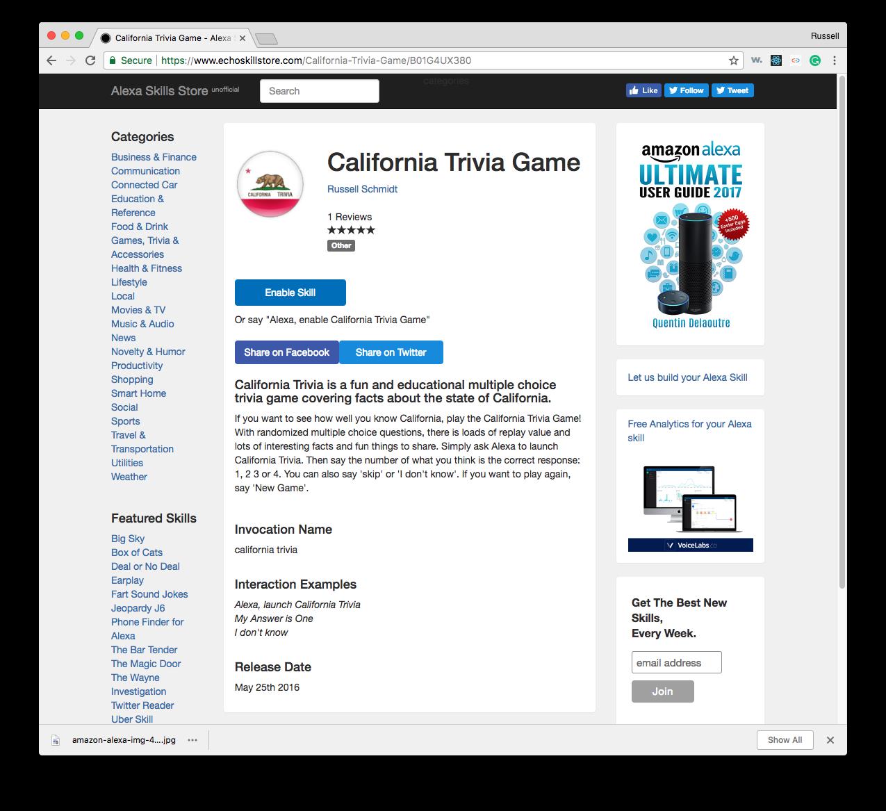 California Trivia