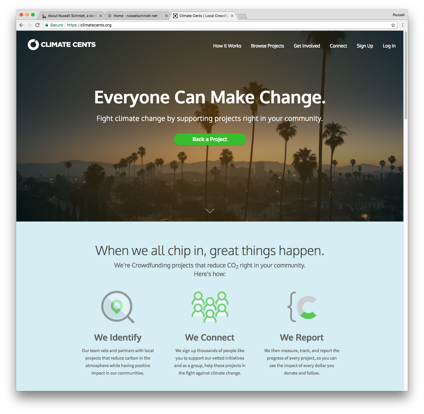 Climate Cents home page