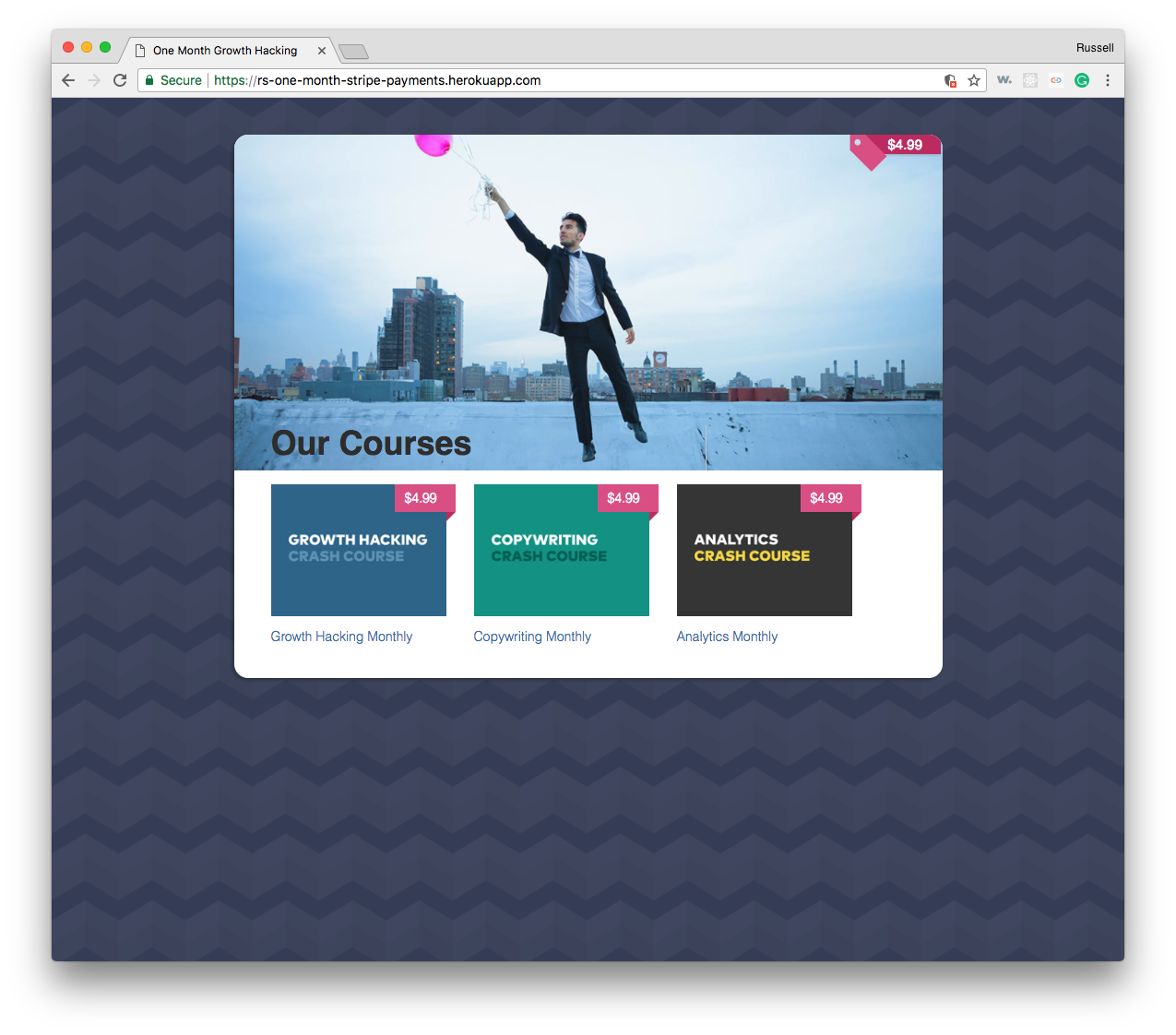 ecommerce site home