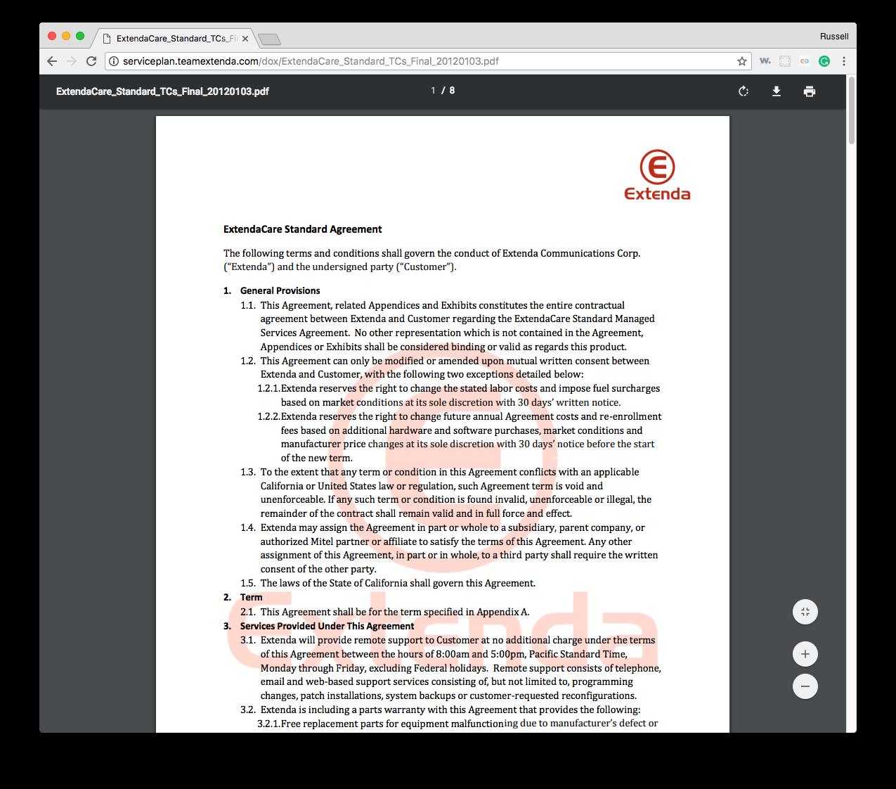 Extenda PDF Ts&Cs